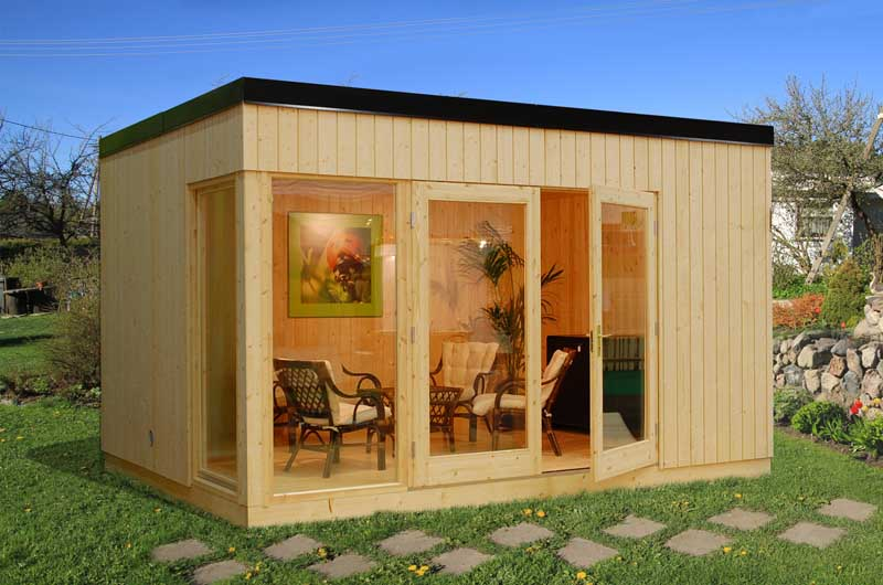 Skandinavische Gartenhäuser palmako nordic haus skandinavische optik für den garten