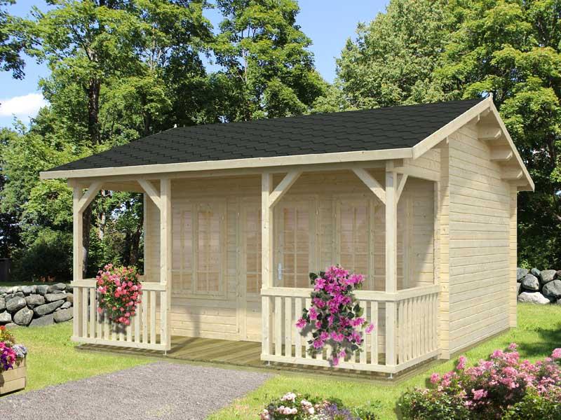 palmako gartenhaus susanna jetzt online kaufen und sparen. Black Bedroom Furniture Sets. Home Design Ideas