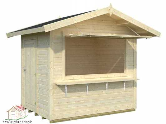 Marktstand stella 1 www gartenhaus for Diseno de kioscos en madera