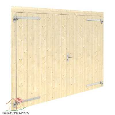 holztor f r garage mit 70mm wand www gartenhaus. Black Bedroom Furniture Sets. Home Design Ideas